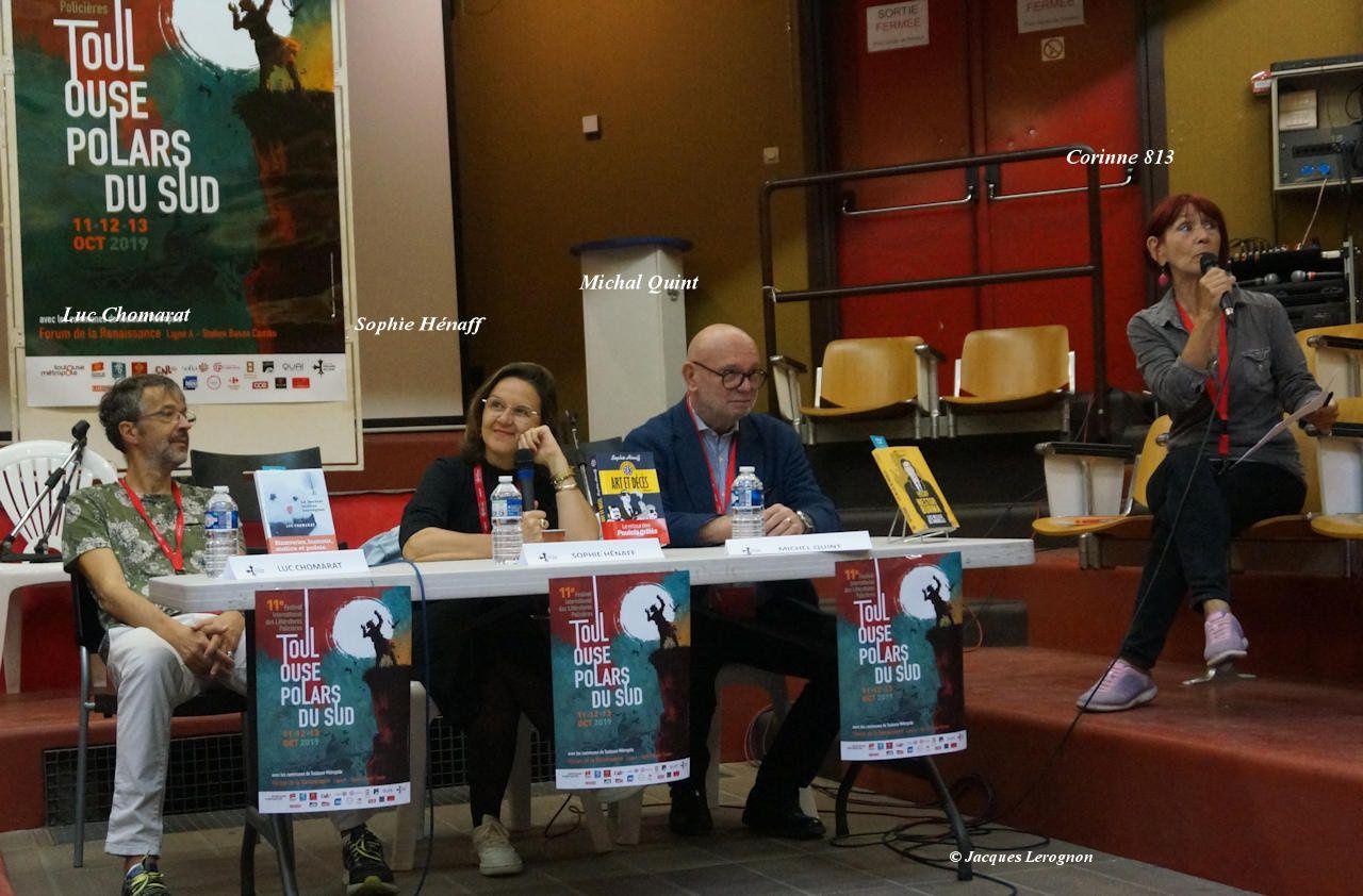 2 tables rondes  :  Littérature et pastiche (modérée par Corinne Naidet) ; ailleurs et le voyage (modérée par Corinne, traducteur de l'espagnolJ. M. La herrère)