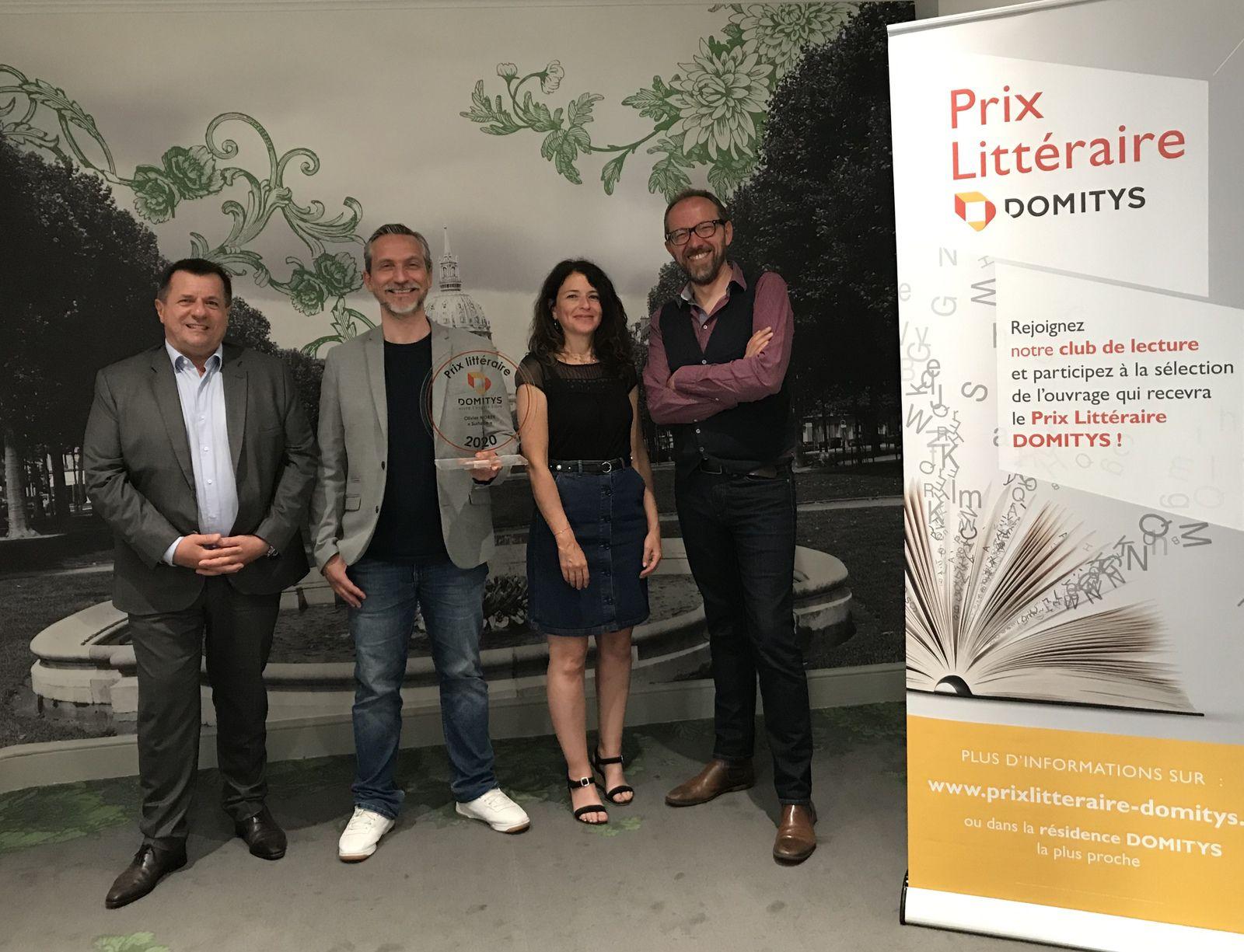 Olivier NOREK, lauréat 2020 du Prix Littéraire DOMITYS