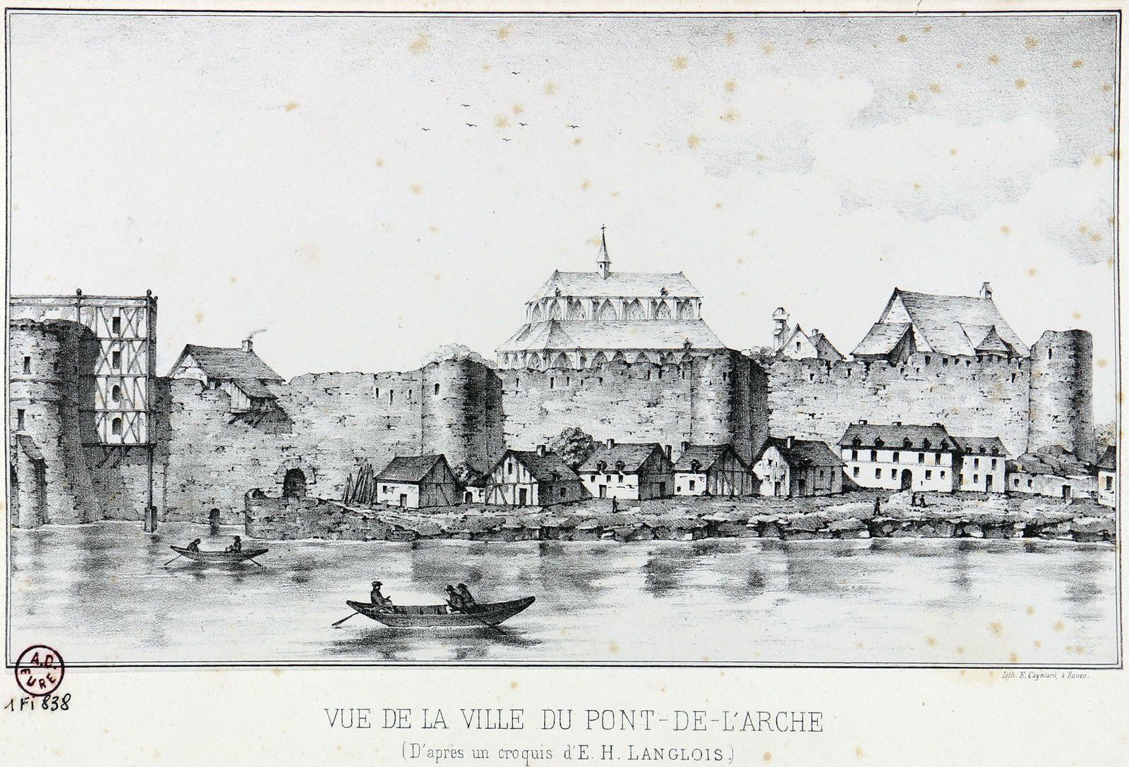 Vue de E. Cagniard dans son intégralité (photographie de Jean Mesqui d'après l'original conservé aux archives de l'Eure).