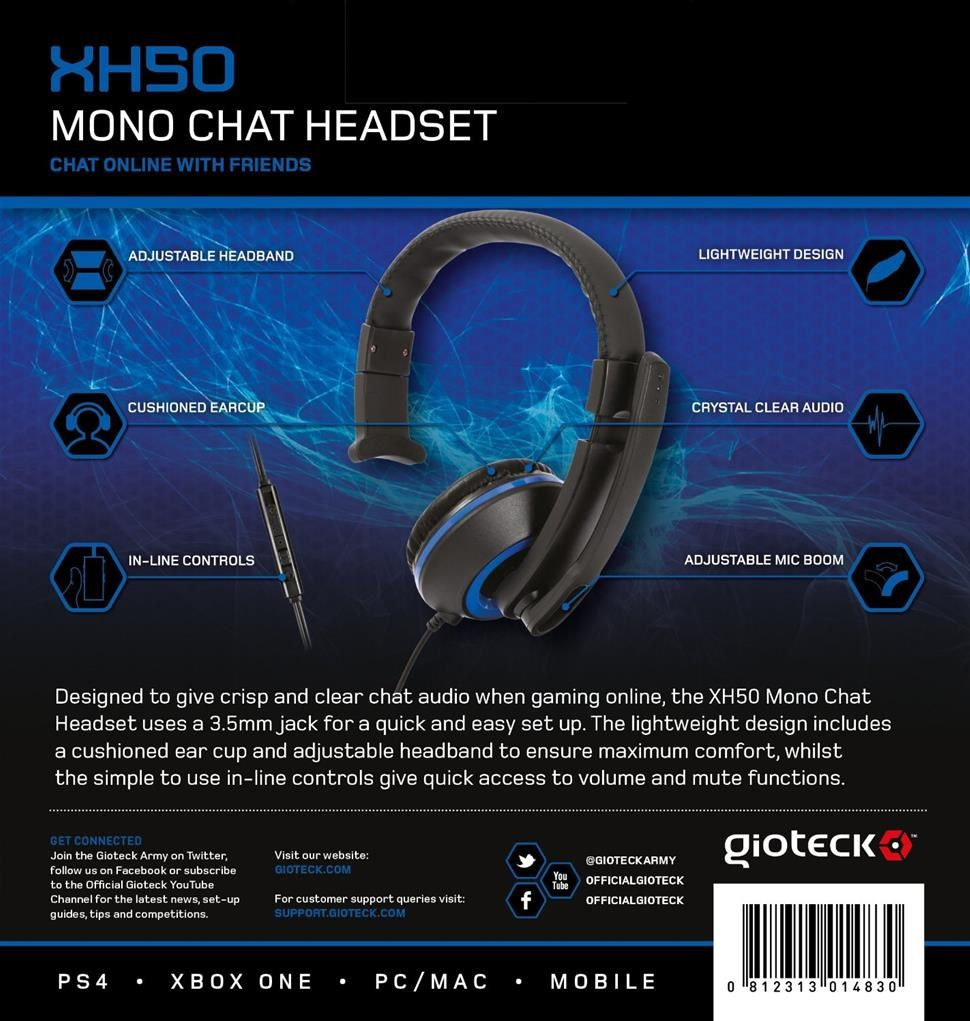 Test Gioteck Xh50 Micro Casque Mono Chat Jeuxvideo World