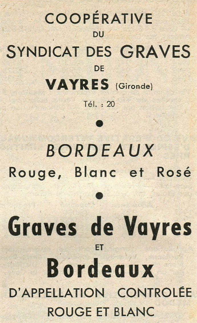 Cave coopérative de Vayres.