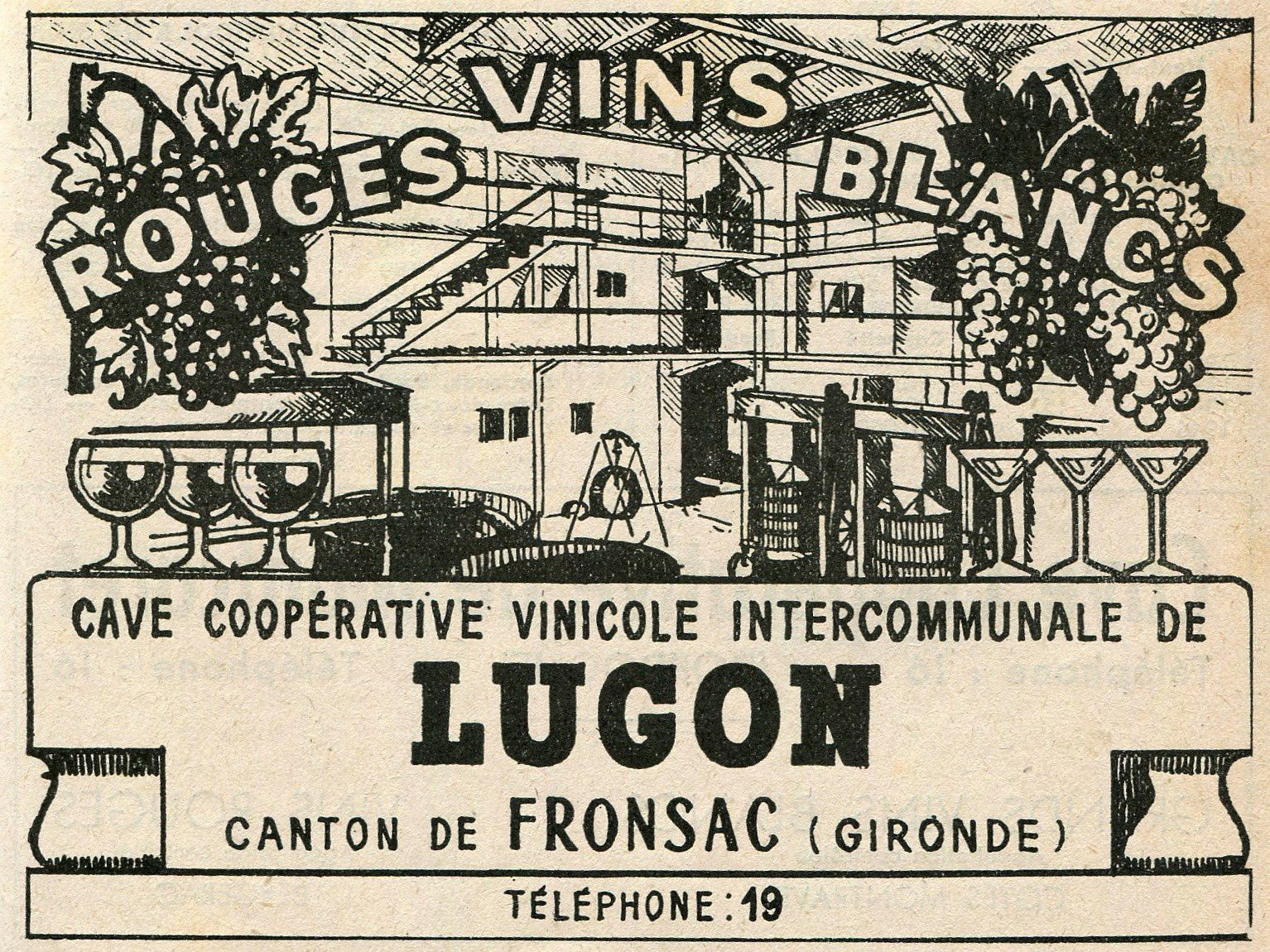 LUGON (Gironde) : La cave coopérative intercommunale.