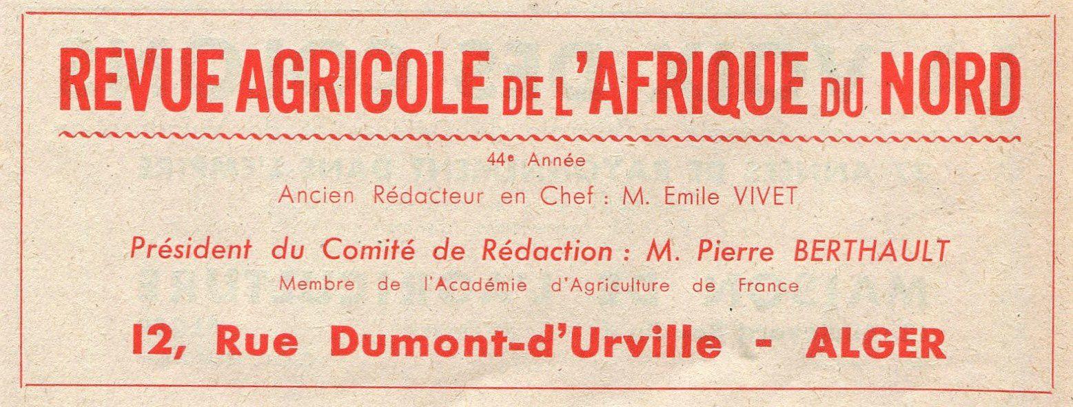 Publicités presse algérienne 1947.