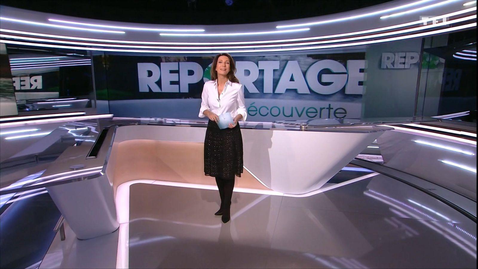 Look rétro-chic pour Anne-Claire Coudray - Reportages découverte - 31-03-2018