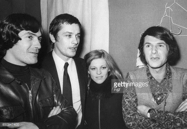 Gilles Marchal, Alain Delon, Nicoletta, Adamo 1971