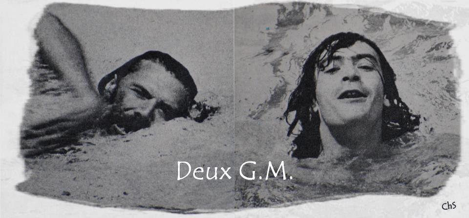 Georges Moustaki et Gilles Marchal. Photo Chantal Savenier.