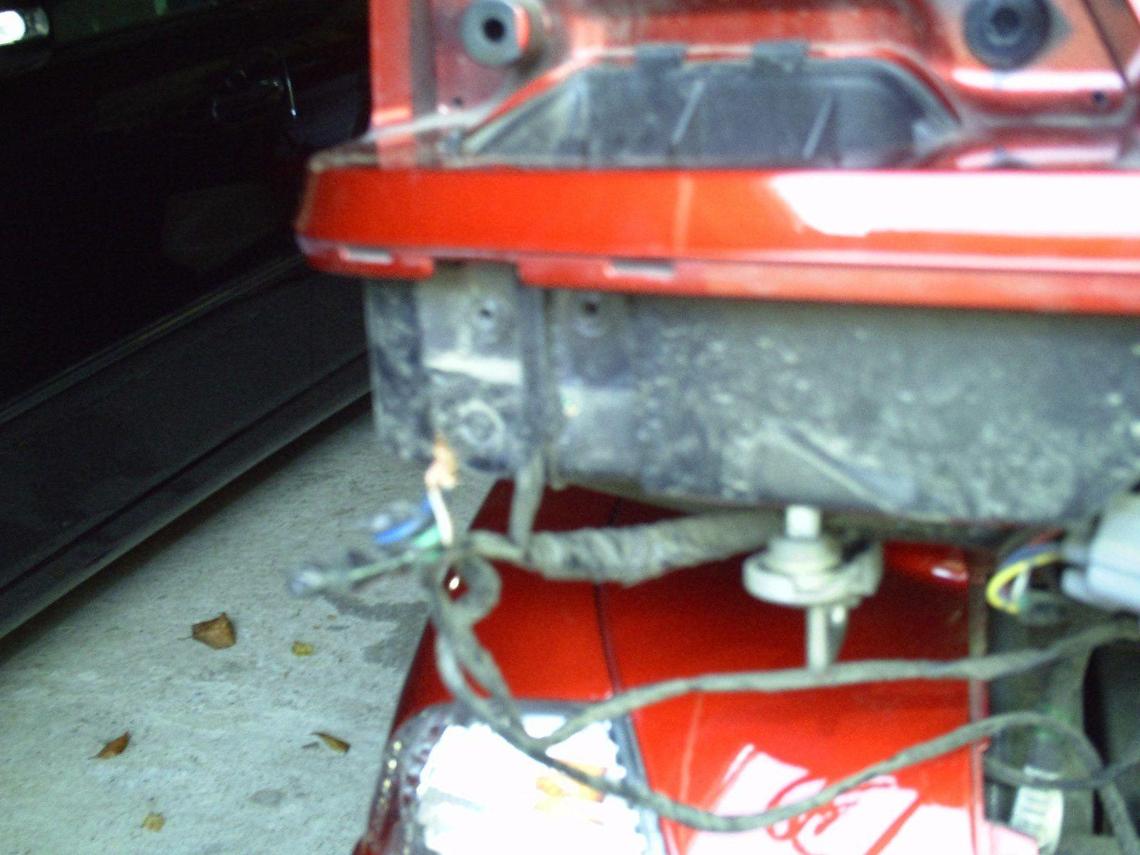 Goldwing - sabotage électrique de l'arrière d'une 1800 et branchement des chromes sacoche et topcase