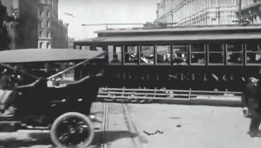 En 1906 à San Francisco ils conduisaient n'importe comment.