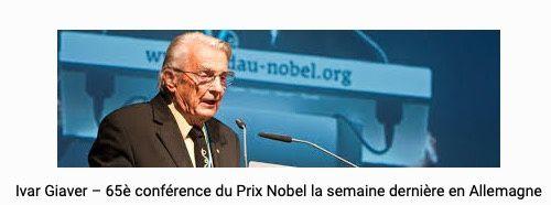 """""""le réchauffement climatique est devenu une nouvelle religion » déclare le prix Nobel Ivar Giaever"""
