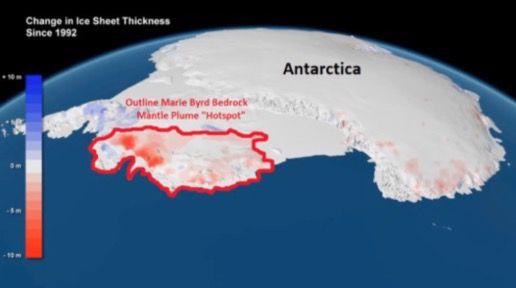 Ce sont des volcans qui font fondre les glaciers de l'Antarctique occidental, mais pas l'homme : 3 nouvelles études le confirment