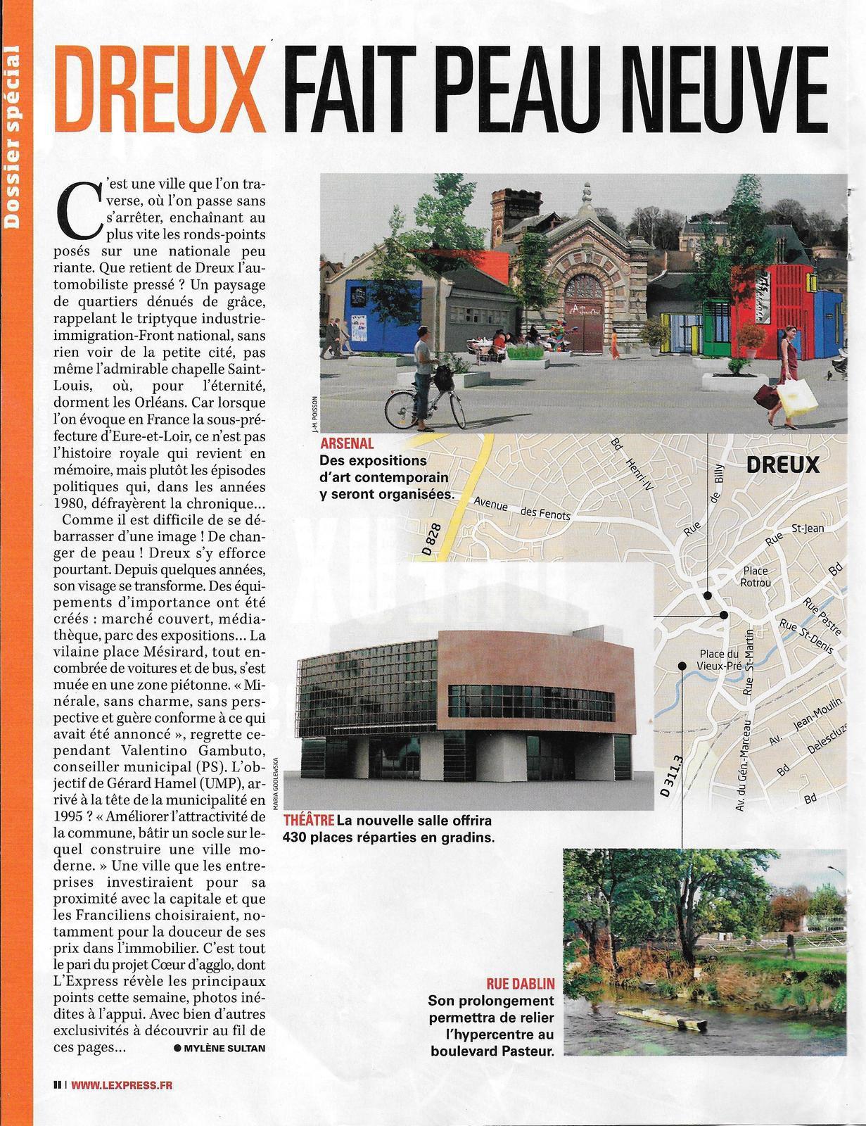 DREUX DANS 10 ANS (Article de l'Express mai 2009)