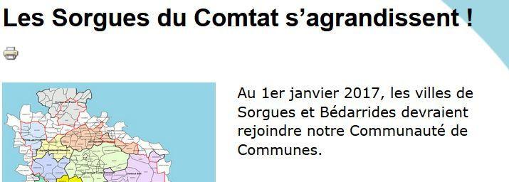 L'interco des Sorgues du Comtat se réjouissent leur site !
