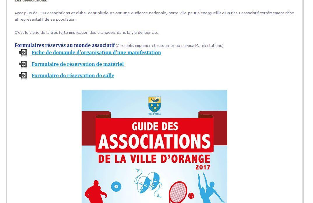 Guide des associations, version 2017.