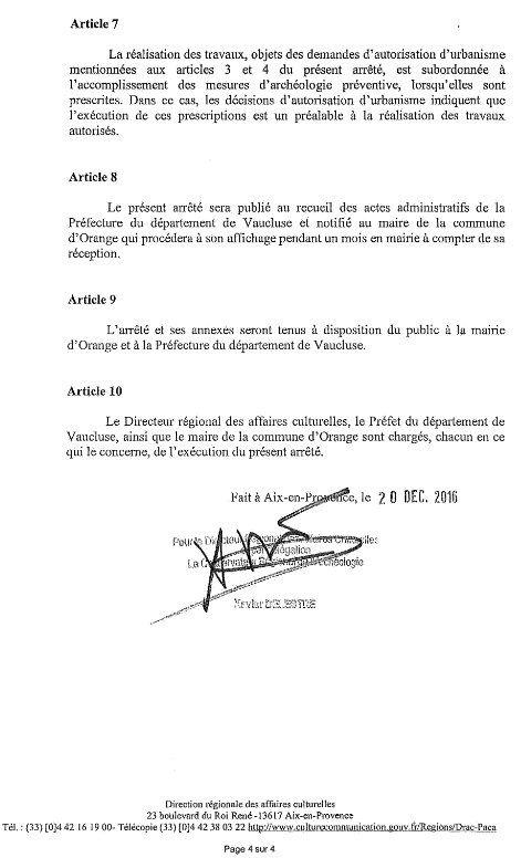 4 Zones archéologiques: aménagements soumis au visa du préfet de Région