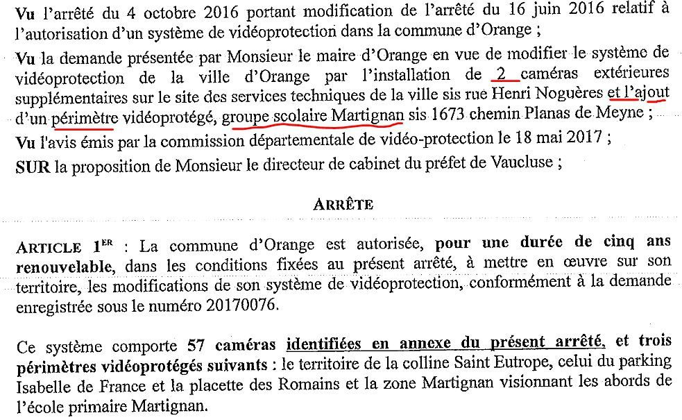Caméras de surveillance: extension du dispositif.