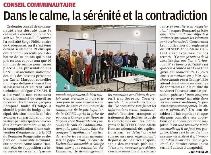 Article du quotidien la Provence.