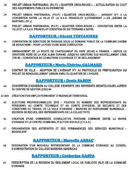 Ordre du Jour conseil municipal du 6 avril