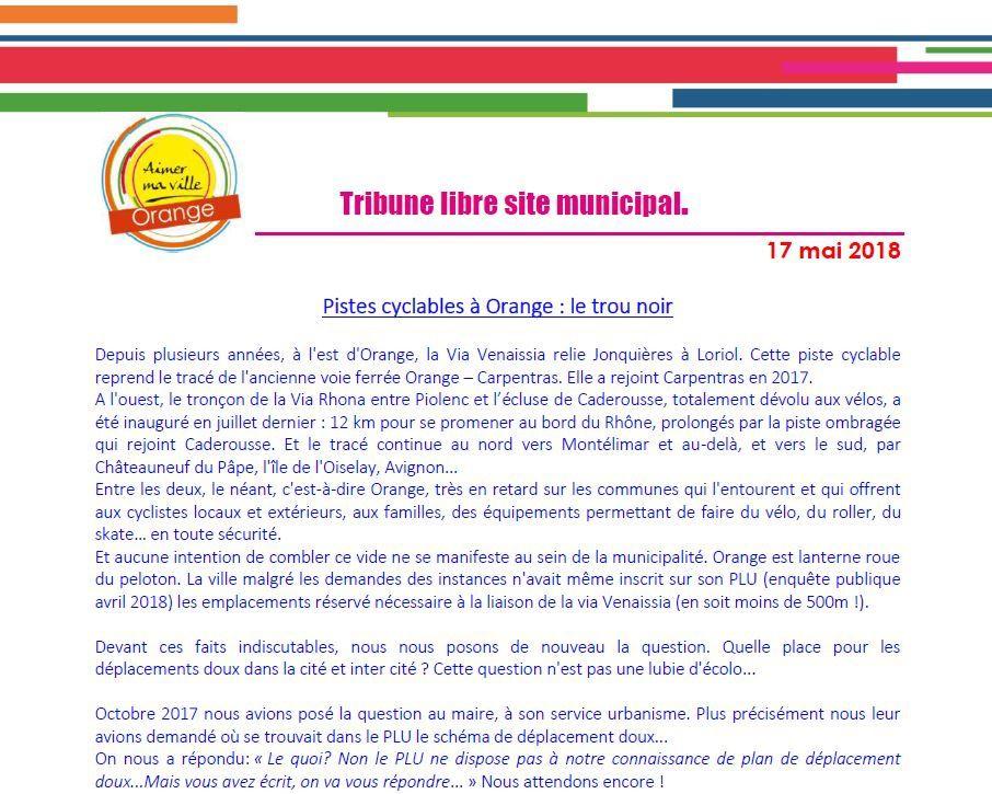 Tribune libre des élues d'opposition:  spéciale site de la ville mai 2018