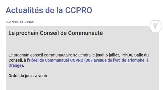 Conseil CCPRO: bingo l'horaire sans aucune discussion sera 15h30!