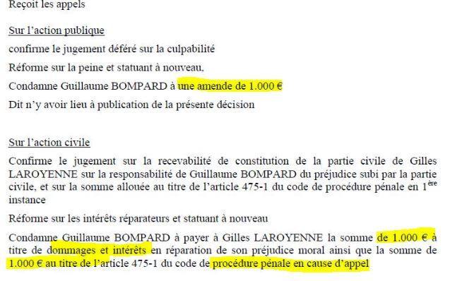 Procès en diffamation: Guillaume Bompard s'amuse à nos frais.