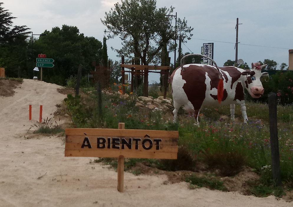 Innauguration du Rond Point de la biodiversité.