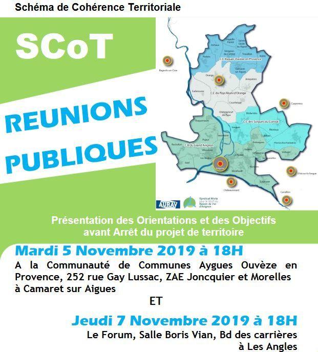 SCOT : Réunion publique le 5 novembre à Camaret pour notre territoire.