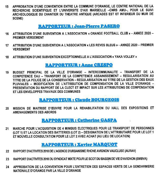 Conseil municipal mardi 21 janvier 2020, 9h00
