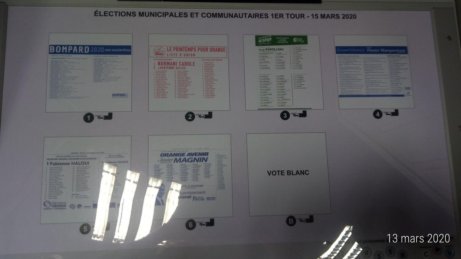 Fait: Les machines à voter sont programmées pour dimanche 15 mars 2020