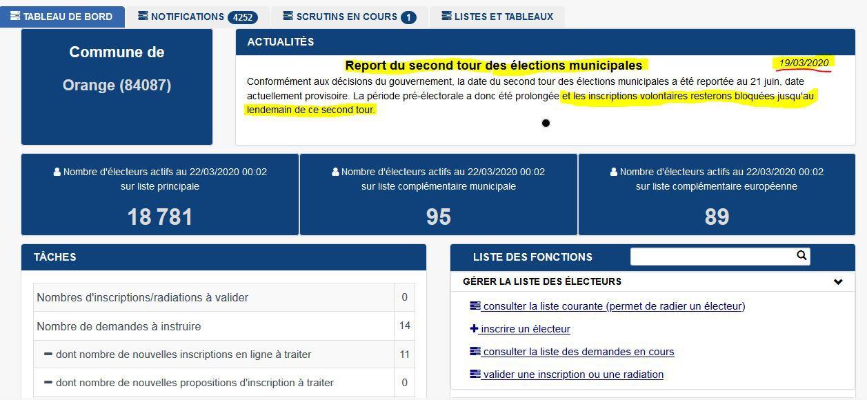Liste électorale:  inscriptions volontaires bloquées ?