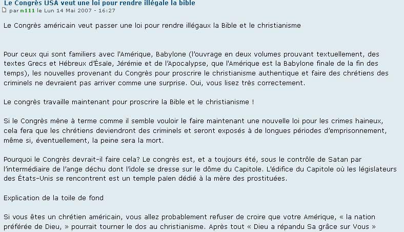 http://lepeupledelapaix.forumactif.com/t1291-le-congres-usa-veut-une-loi-pour-rendre-illegale-la-bible