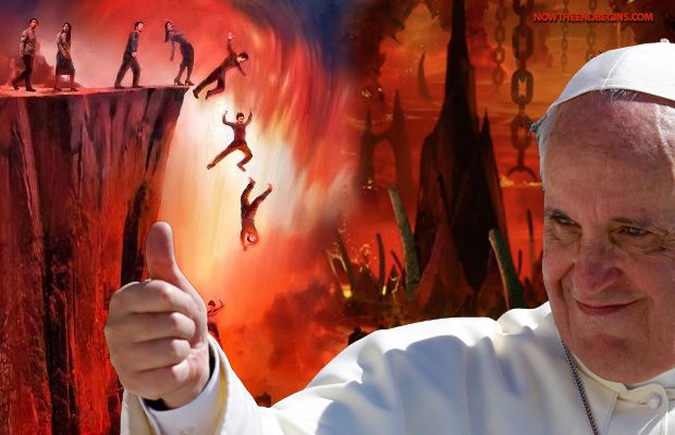 """Pope Francis wants you to """"be kind"""" to lost people, and to not try to convert them to save them from Hell. http://www.nowtheendbegins.com/blog/?p=23850"""