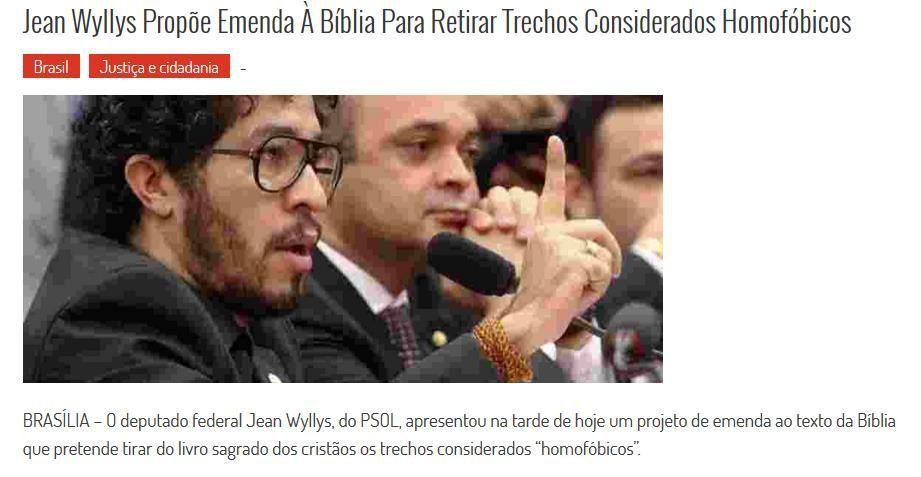 Brésil amendement pour retirer certains versets de la Bible