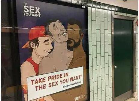 Campagne d'affichage : Après les rues de France, le Canada ... (Wellesley station)