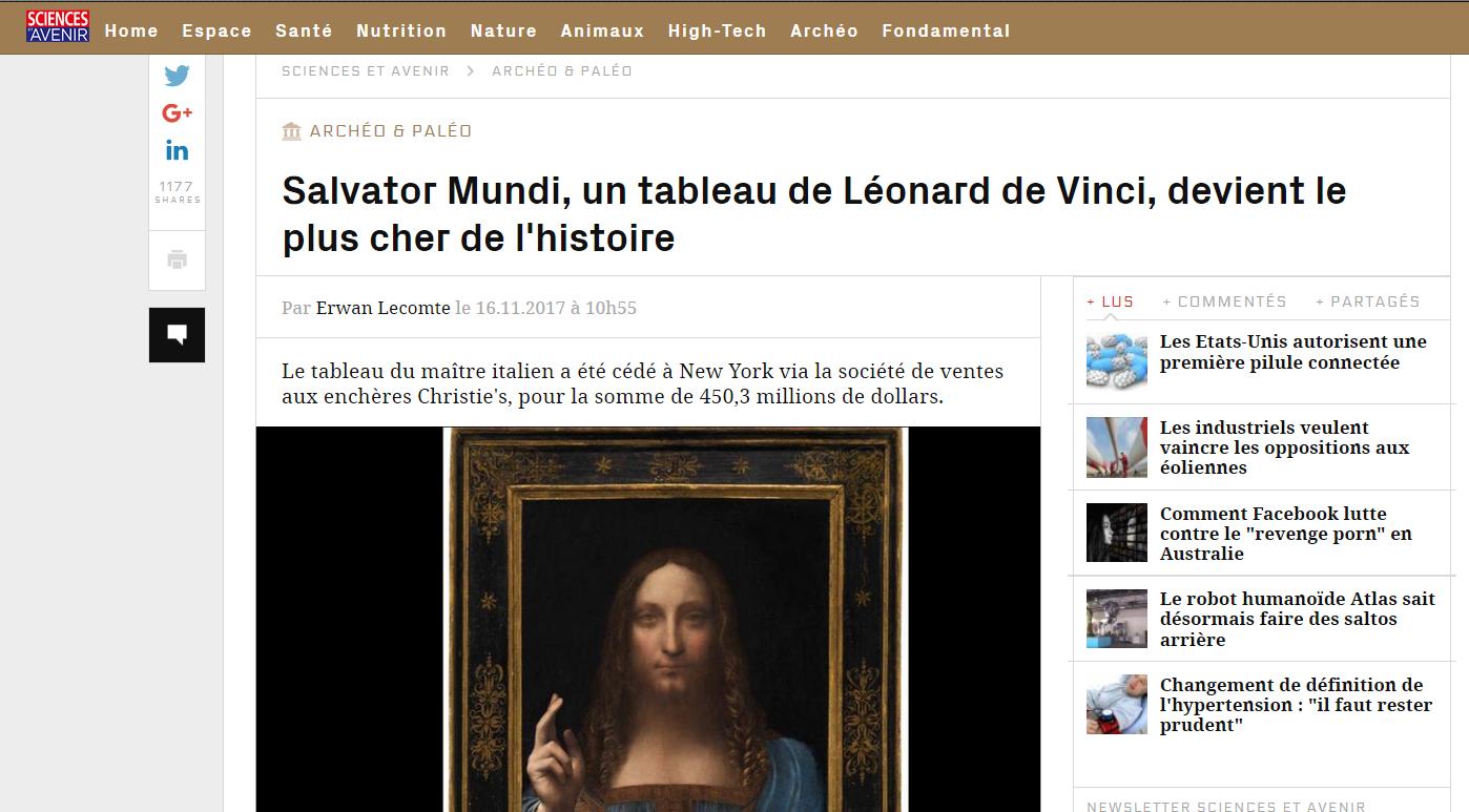 https://www.sciencesetavenir.fr/archeo-paleo/salvator-mundi-un-tableau-de-leonard-de-vinci-devient-le-plus-cher-de-l-histoire_118349