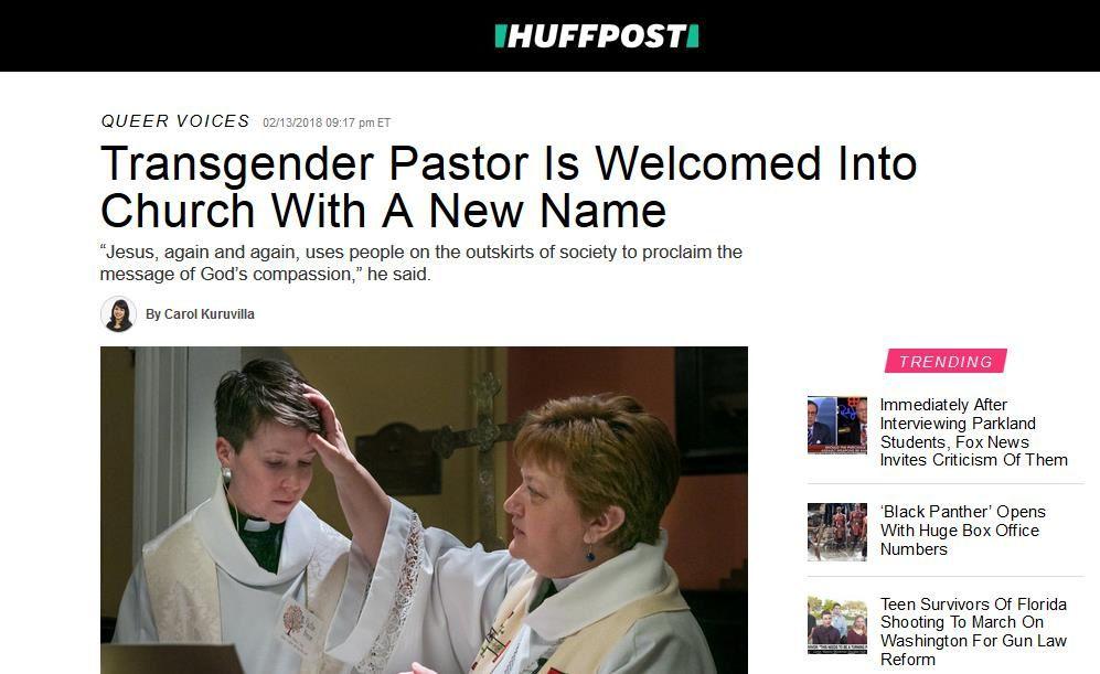Etats-Unis : L'église luthérienne a réalisé une cérémonie visant à rebaptiser le pasteur transgenre