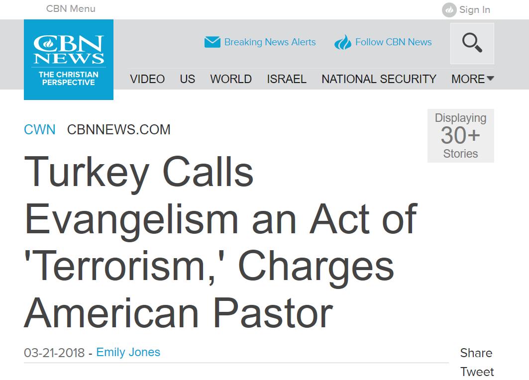"""Un pasteur arrêté en Turquie est accusé de """"terrorisme"""" pour avoir prêché l'Évangile"""