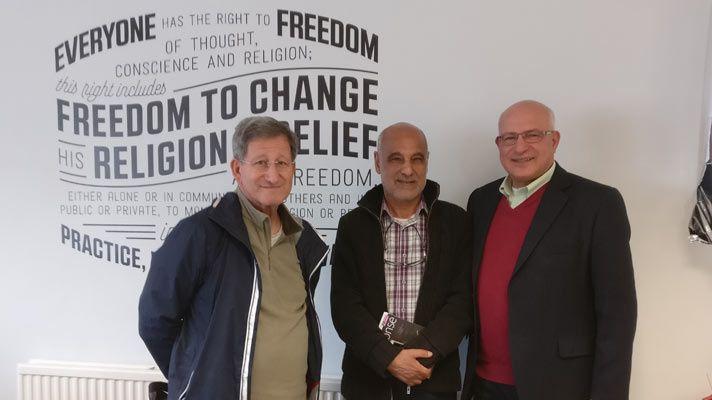 Les pasteurs algériens : Mustafa Karim, Ali Khidri and Youssef Ourahmane (CSW)