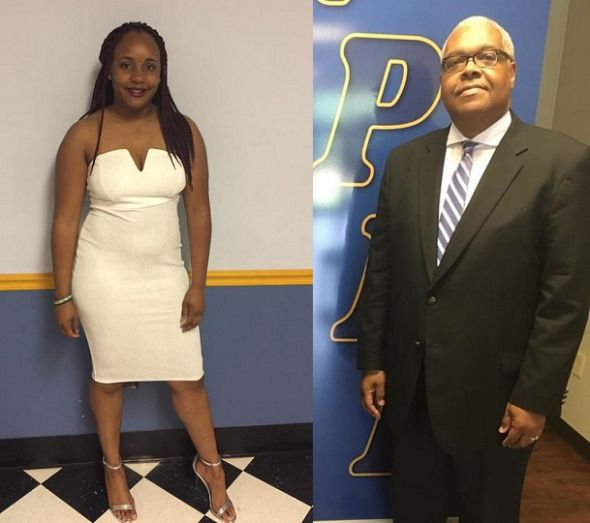 "(Photos: Facebook) Azoia Williams (L) claims she was booted from Zion Chapel Church of God in Christ in Mississippi by Pastor David E. Johnson, Sr. (R) for ""excessive absenteeism."""