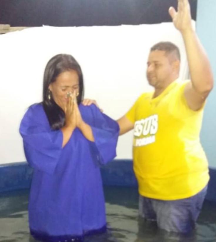Alana lors de son baptême