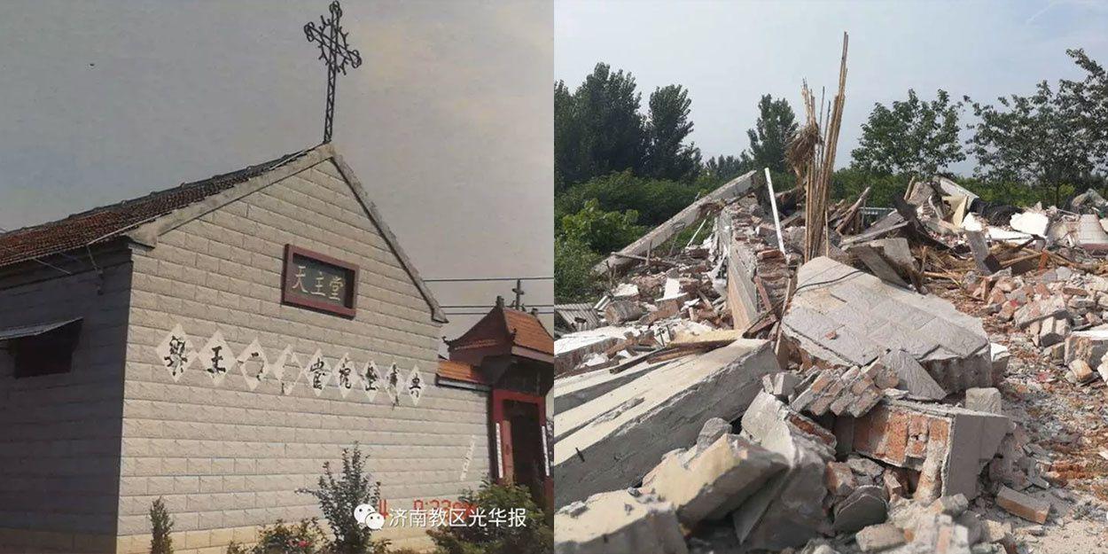 Chine : Les autorités détruisent une église en seulement 15 minutes