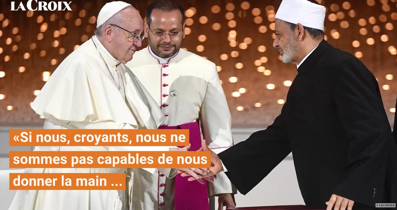 Le pape et l'imam le plus important de l'islam viennent de signer une alliance qui nous rapproche de plus en plus d'une religion mondiale