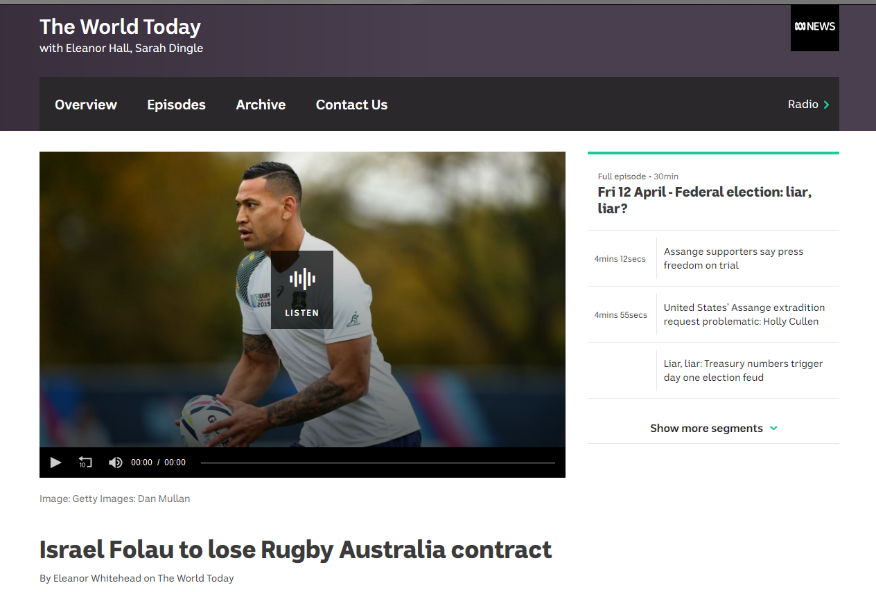 https://www.abc.net.au/radio/programs/worldtoday/israel-folau-to-lose-rugby-australia-contract/10997694