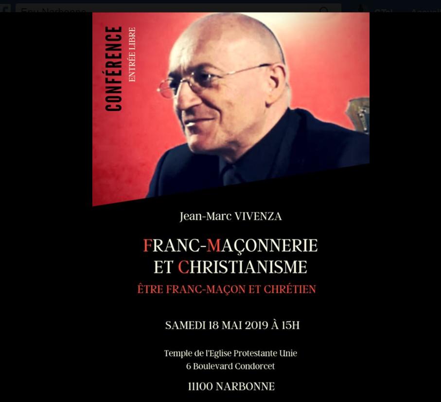 """Eglise réformée de Narbonne : """"Franc-Maçonnerie et Christianisme"""""""