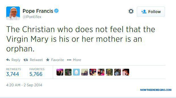 Pape François : La Vierge a 3 nouveaux titres