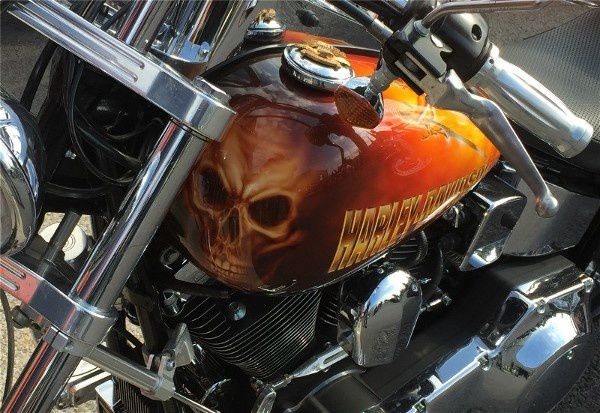 Stamping, peintures... à Opâle Harley Day 2016