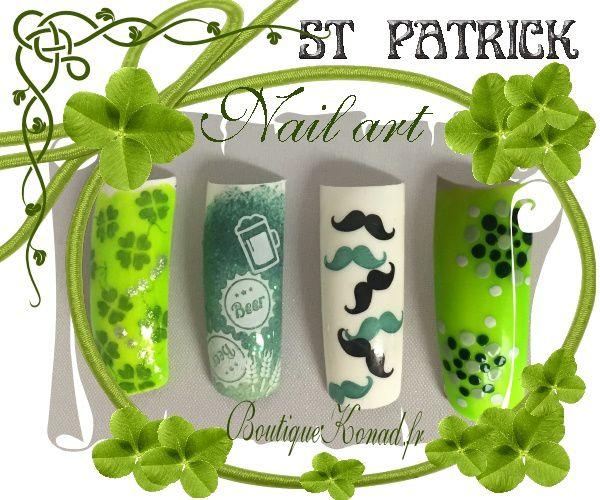 Stamping Nail art Konad pour Saint Patrick