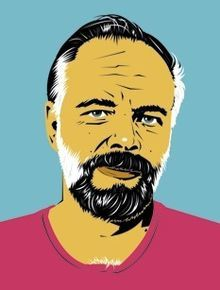 Portrait dessiné de Philip K. Dick