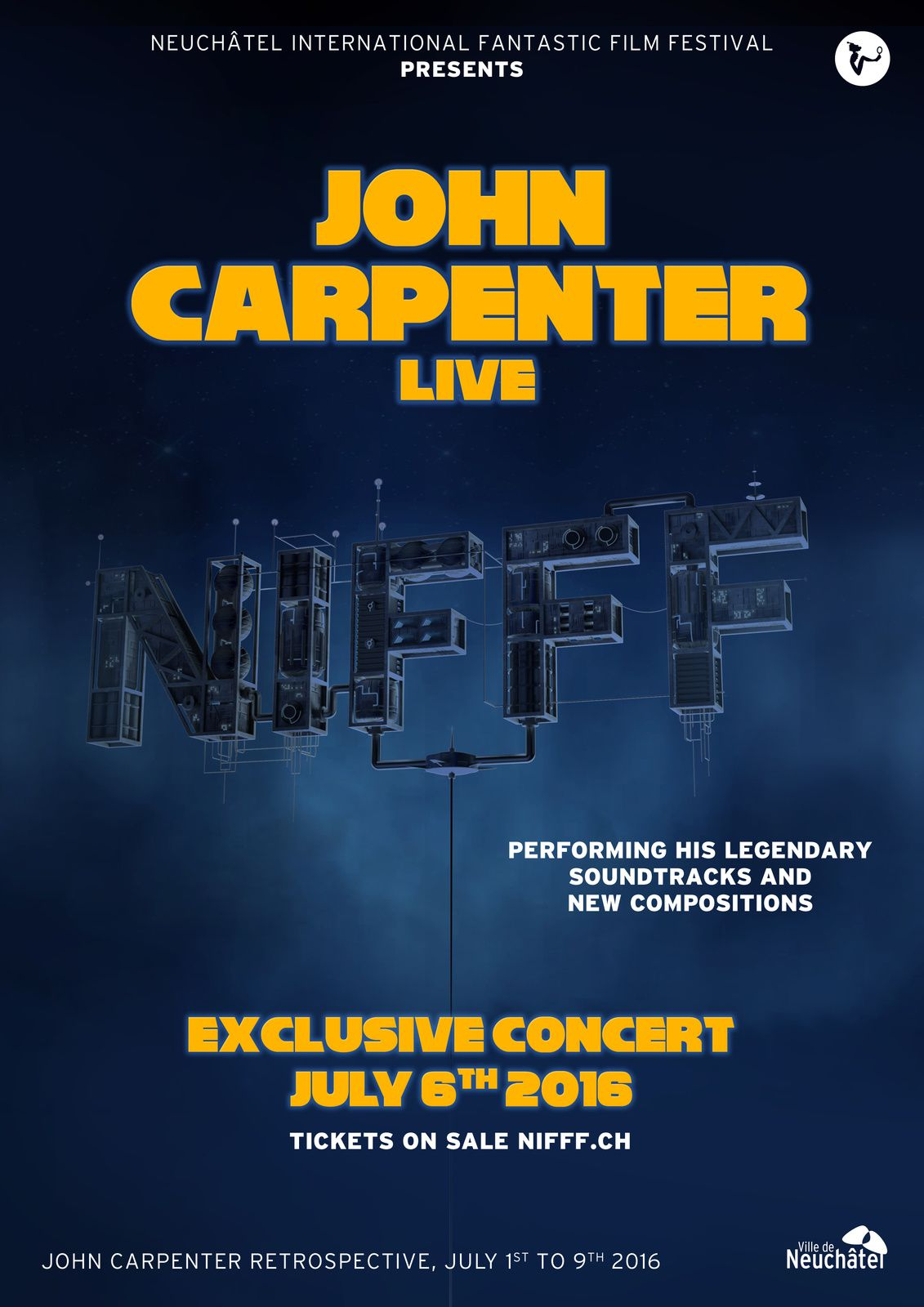 John Carpenter en live  NIFFF 2016