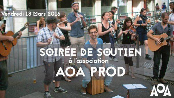 Soirée de soutien à AOA Prod