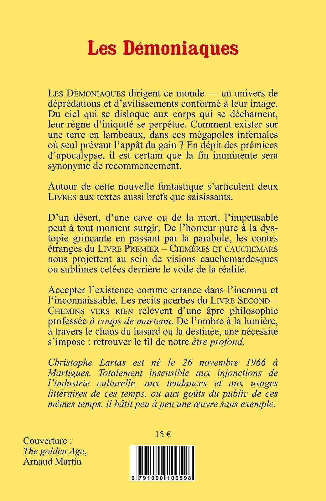 Les Démoniaques & autres textes de Christophe Lartas